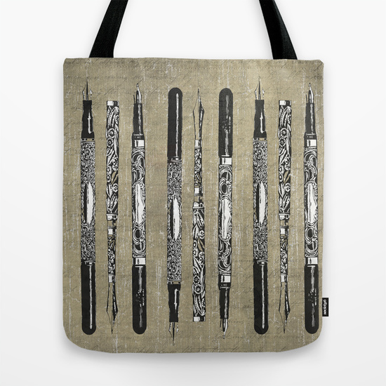 French Pens Tote Bag by Edward M. Fielding