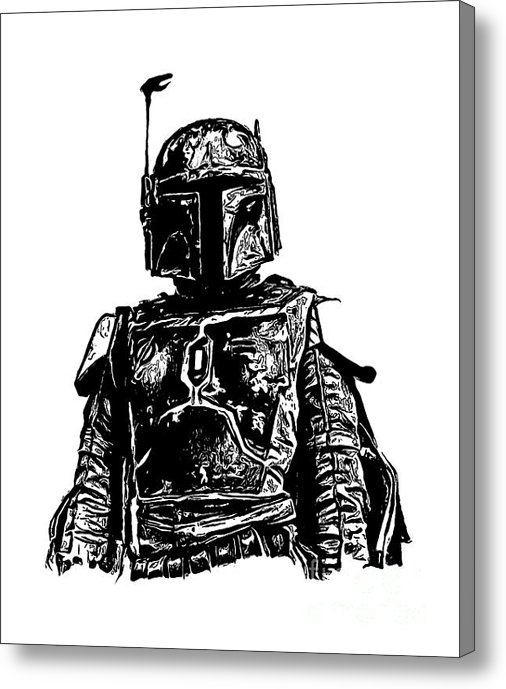 Limited time offer on this Boba Fett Star Wars canvas painting!