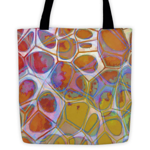 Abstract Painting Cells Series 10 Tote bag