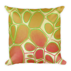 Abstract Painting Cells Series 2 Pillow
