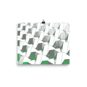 Abstract Cube Shapes Poster