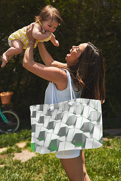 Modern urban abstract totes