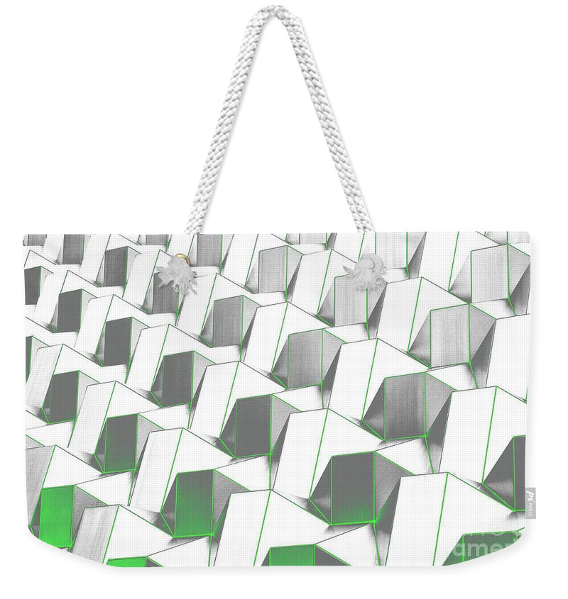 Abstract urban weekender tote