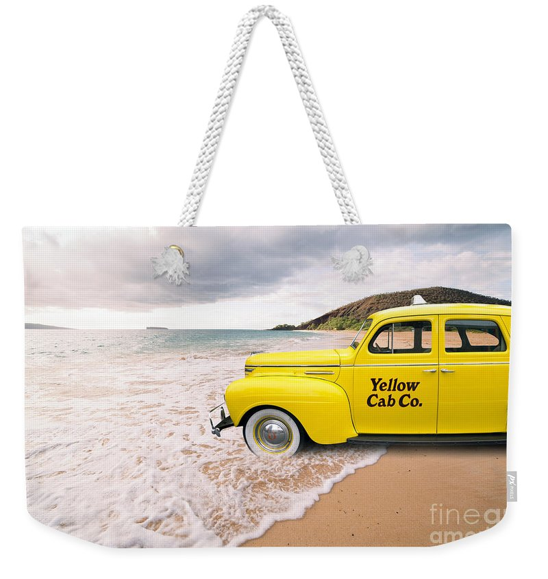 Yellow Cab on the Beach Tote