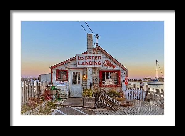 Lobster Landing Sunset by Edward M. Fielding