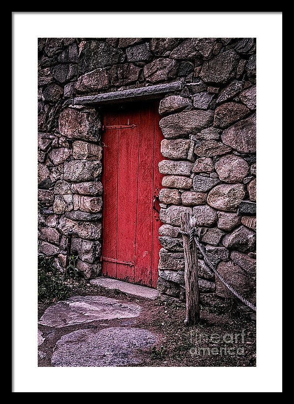 Red Grist Mill Door