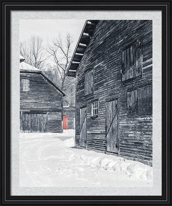 Red Door Winter Barn, Windsor, Vermont