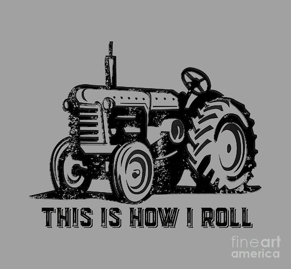 "8.000"" x 7.375"" print of This Is How I Roll Tee to a buyer from Lincoln, Lincs - United Kingdom."
