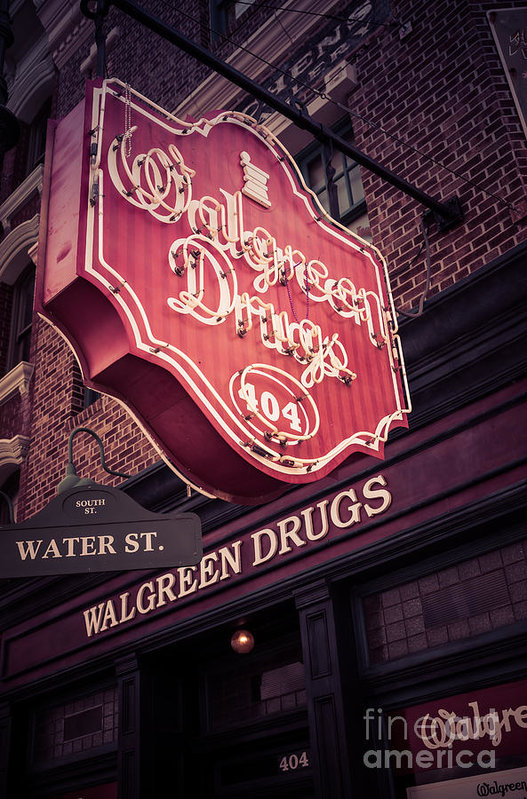 Vintage Walgreen Drugs Store Neon Sign