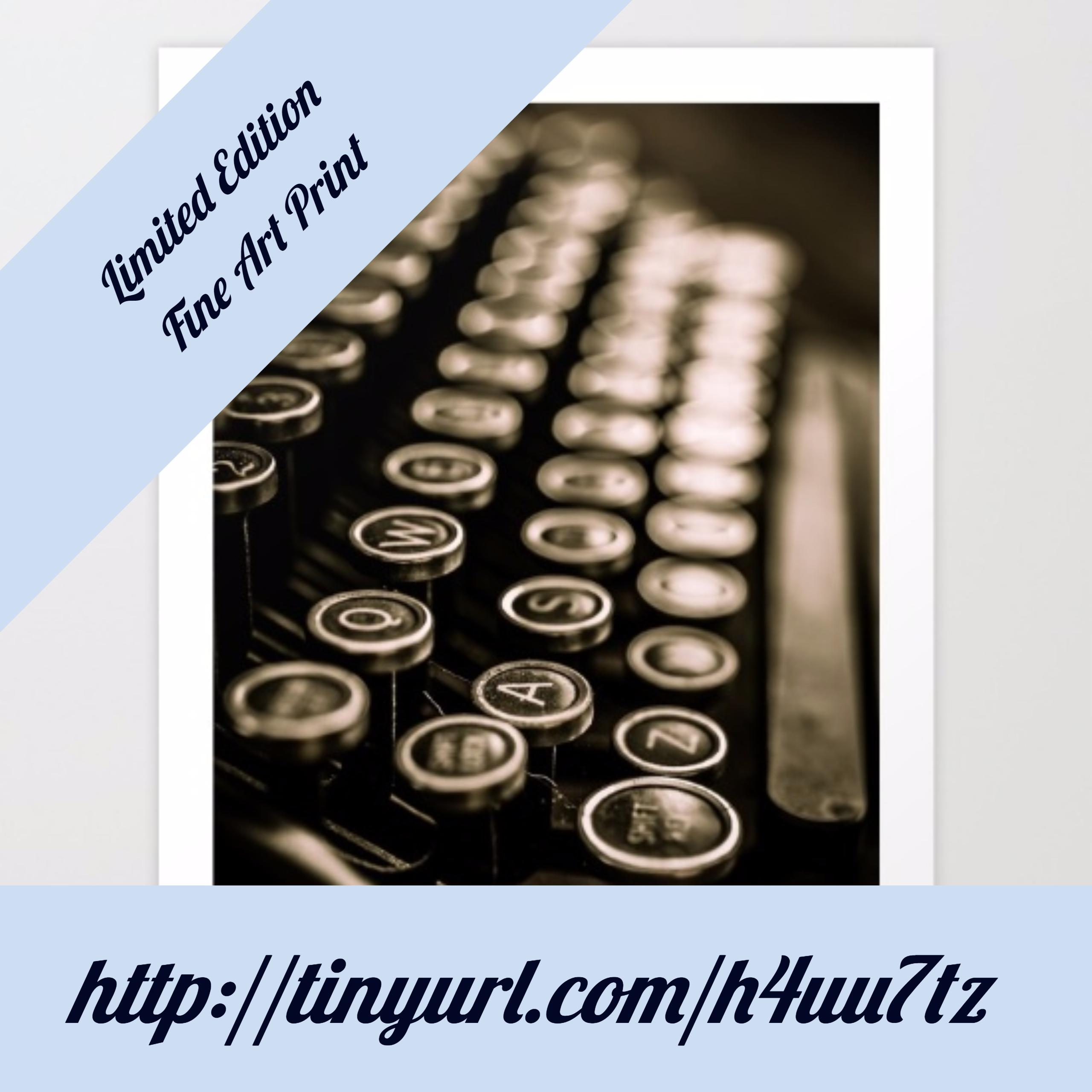 New Limited Edition Release Vintage Typewriter