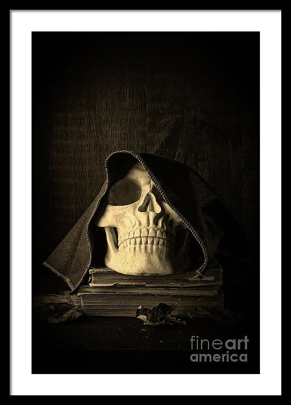 Creepy Hooded Skull - fine art photography by Edward M. Fielding