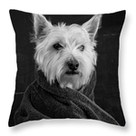 Portrait of a Westie Throw Pillow