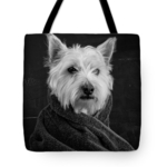 Portait of a westie tote