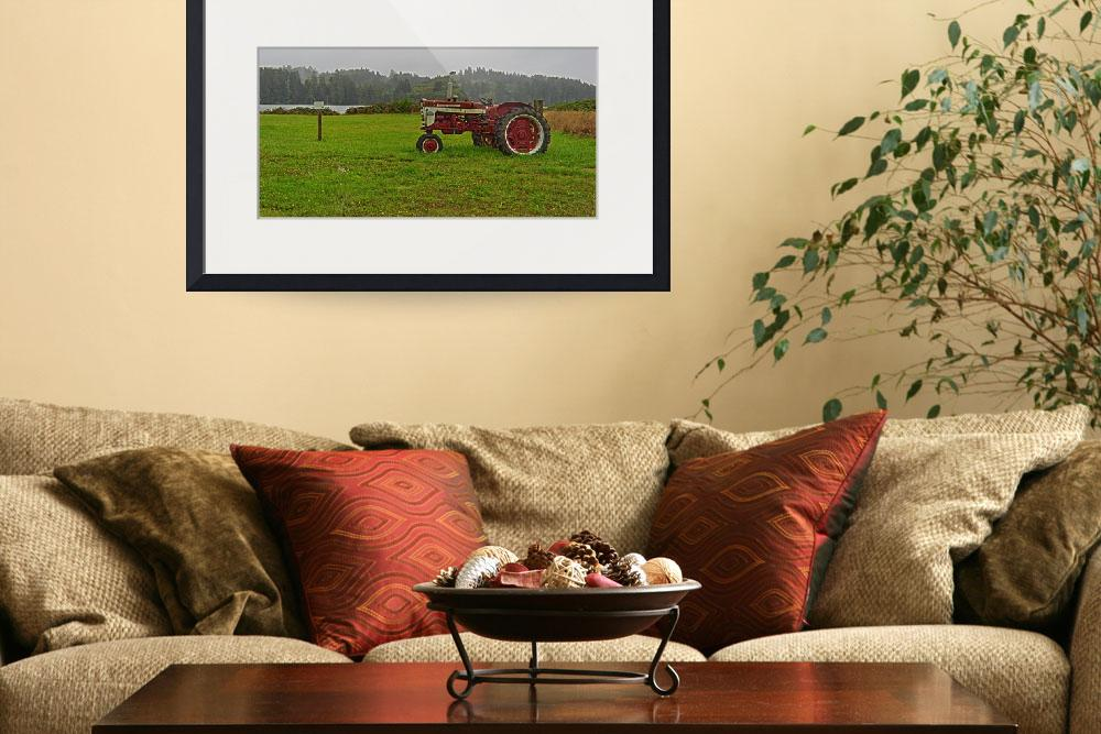 Tractor art in the living room