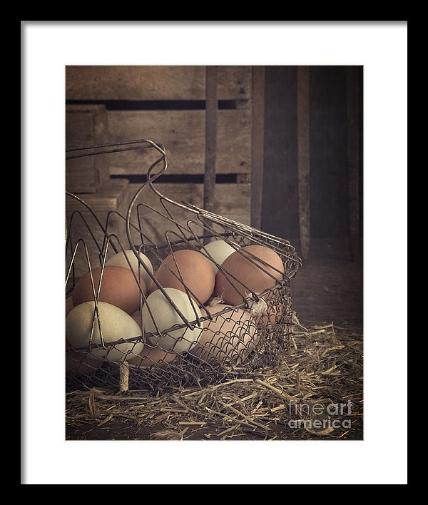 Eggs in a Vintage Wire Basket