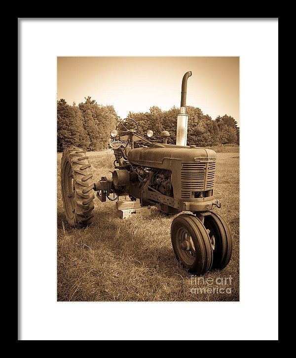 Photographs of old tractors