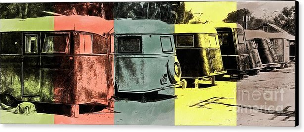 Sarasota Series Vintage Trailer Park Pop Art Canvas Print