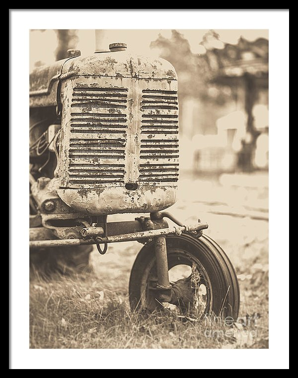Old Tractor Brown Toned by Edward M. Fielding