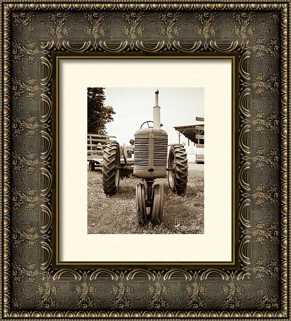 Vintage Tractor with elaborate frame