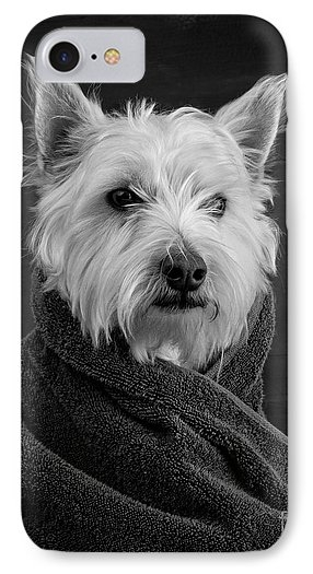 Westie Phone Case by Edward M. Fielding