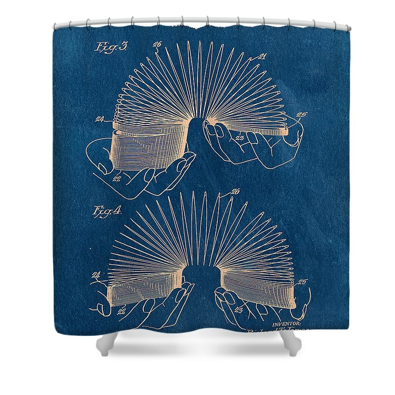 Slinky Vintage Patent Shower Curtain