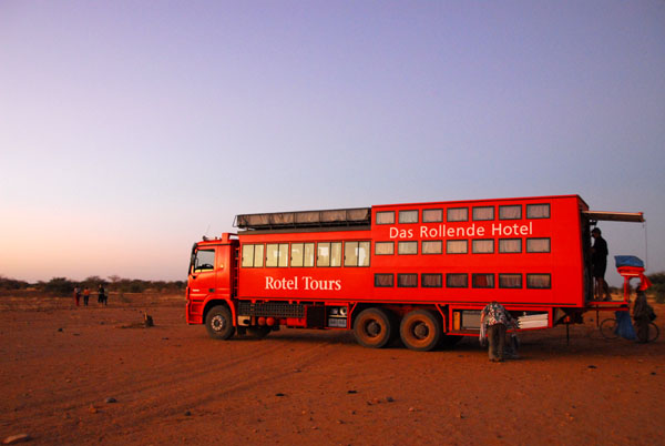 A rolling hotel, a hotel on wheels