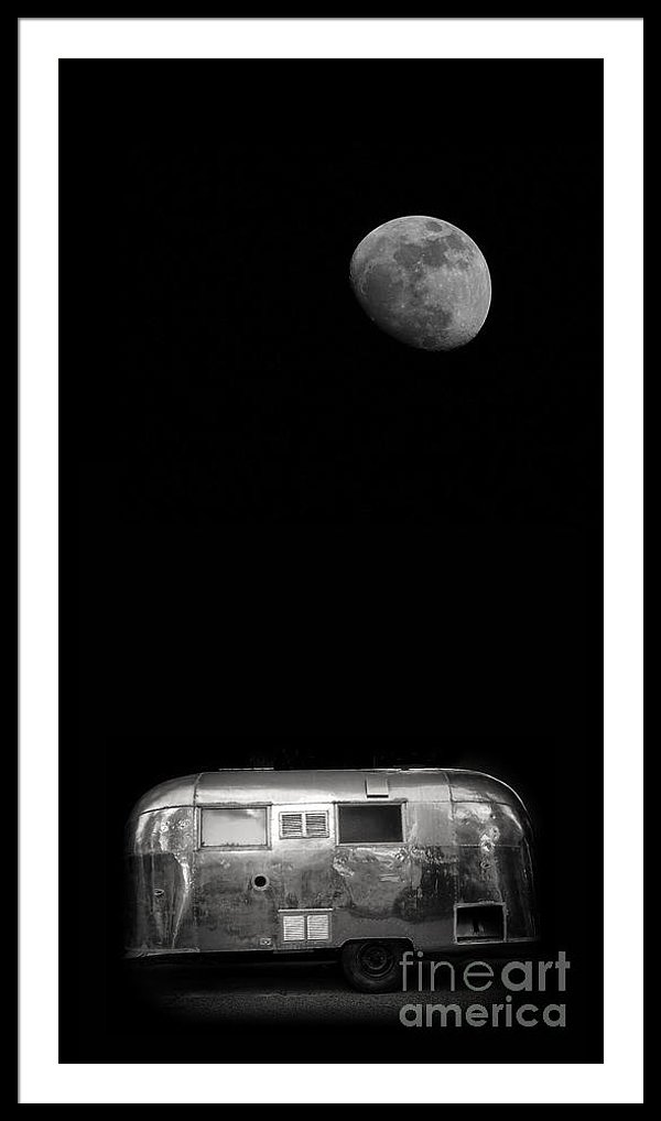 Moonrise Over Airstream trailer