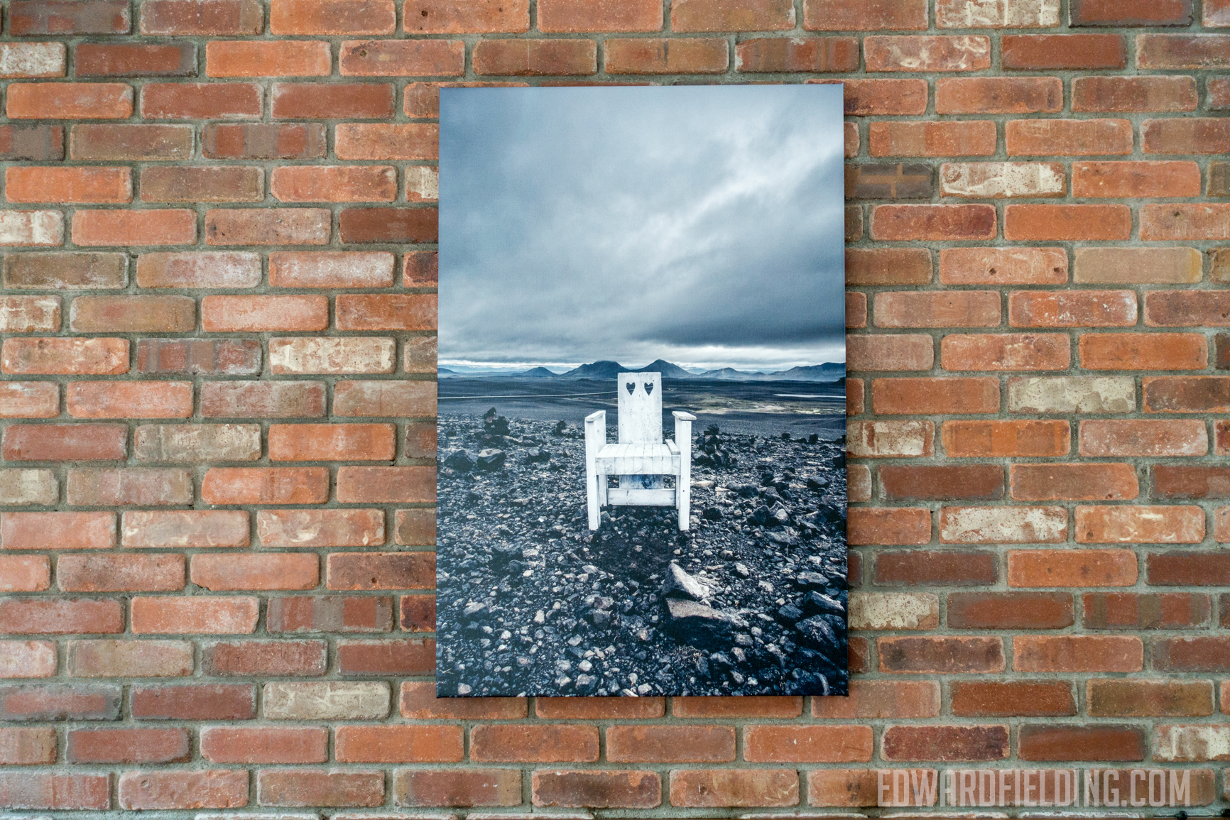 Iceland fine art canvas print mounted over the fire place.