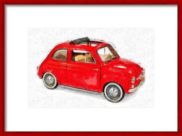 Classic Red Fiat Artwork