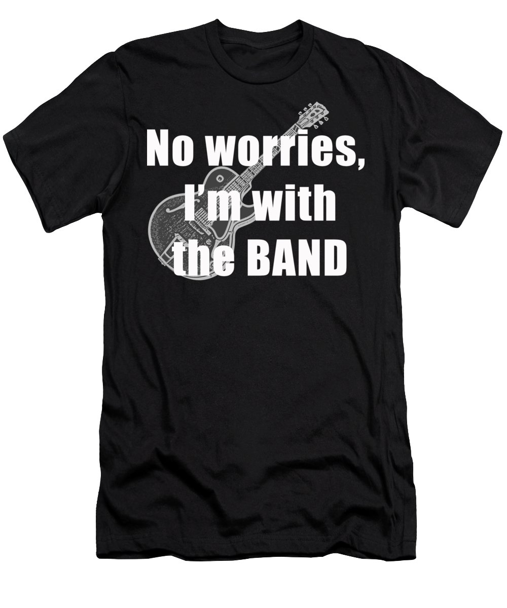 a Men's T-Shirt (Athletic Fit) - Black - Small of With The Band Tee to a buyer from Burke, VA.
