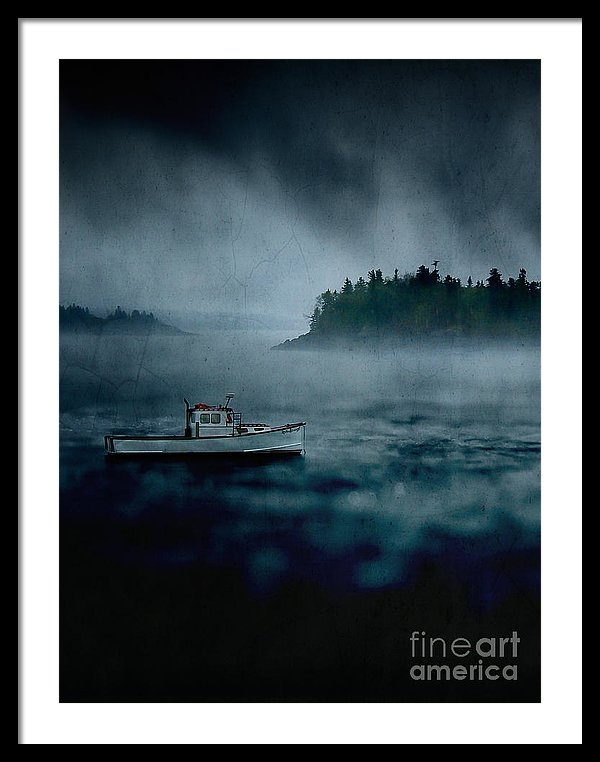"a 22.500"" x 30.000"" print of Stormy Night Off The Coast Of Maine to a buyer from Burbank, CA."