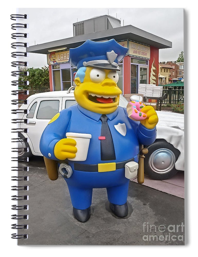 a Spiral Notebook of Chief Clancy Wiggum From The Simpsons to a buyer from Ponte Vedra Beach, FL.