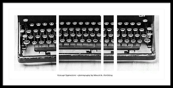 Vintage Typewriter fine art photograph by Edward M. Fielding