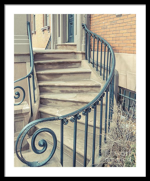 Walkup Brownstone Stairs Providence Rhode Island
