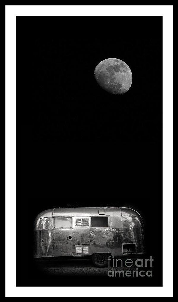 Moonrise Over Airstream Dogford Studios